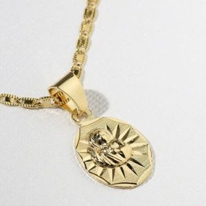 Vanessa Mooney The Son of Man Gold Charm Necklace
